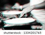 retro turntables illustration... | Shutterstock . vector #1334201765