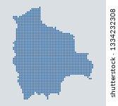 pixel blue dot map on gray...