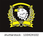 eagle with crown | Shutterstock . vector #133424102