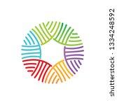 leaf logo design vector... | Shutterstock .eps vector #1334248592