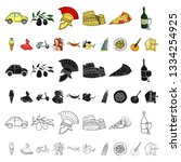 country italy cartoon icons in...   Shutterstock . vector #1334254925