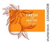 orange label vector drawing.... | Shutterstock .eps vector #1334260208