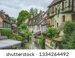 Old typical european town of Mulhouse in France