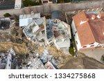 landslide caused by rains of... | Shutterstock . vector #1334275868