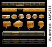 rich styled web menu | Shutterstock .eps vector #13342855