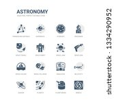 simple set of icons such as... | Shutterstock .eps vector #1334290952