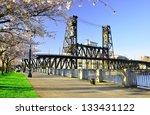 cherry blossoms along... | Shutterstock . vector #133431122
