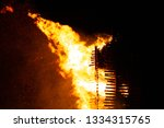 the sparks fire is an old fire...   Shutterstock . vector #1334315765