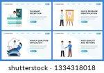 dental clinic landing website...   Shutterstock .eps vector #1334318018