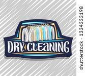 vector logo for dry cleaning ... | Shutterstock .eps vector #1334333198