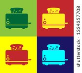color toaster with toasts icon... | Shutterstock .eps vector #1334357708
