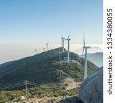 windmill mountain power plant   Shutterstock . vector #1334380055