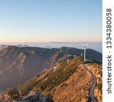 windmill mountain power plant    Shutterstock . vector #1334380058