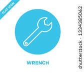 wrench icon vector. thin line... | Shutterstock .eps vector #1334385062