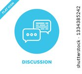 discussion icon vector. thin... | Shutterstock .eps vector #1334385242