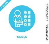 skills icon vector. thin line... | Shutterstock .eps vector #1334390618