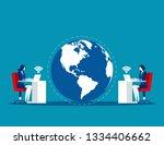 business team world and...   Shutterstock .eps vector #1334406662