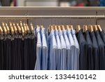 clothes line in glasses shop at ... | Shutterstock . vector #1334410142