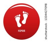 human step icon. simple... | Shutterstock . vector #1334427098