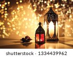 ornamental arabic lanterns with ... | Shutterstock . vector #1334439962