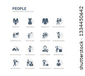 simple set of icons such as man ... | Shutterstock .eps vector #1334450642