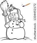 coloring book or page ... | Shutterstock .eps vector #1334452172