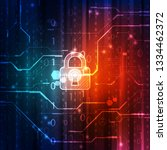 abstract technology security on ... | Shutterstock .eps vector #1334462372