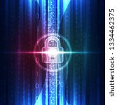 abstract technology security on ... | Shutterstock .eps vector #1334462375