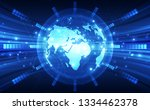 abstract digital technology... | Shutterstock .eps vector #1334462378