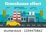 greenhouse effect concept... | Shutterstock . vector #1334470862