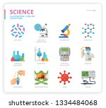 science icon set | Shutterstock .eps vector #1334484068