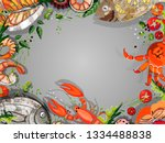 drawn by hand. top view ... | Shutterstock .eps vector #1334488838