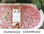 top view of bath tub with...   Shutterstock . vector #1334494142