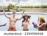 pool party summer concept ... | Shutterstock . vector #1334500418