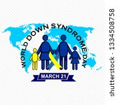 world down syndrome day | Shutterstock .eps vector #1334508758