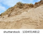 Windswept Eroded Sand Dunes At...