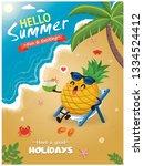 vintage summer poster design...   Shutterstock .eps vector #1334524412