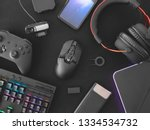 streaming games concept  top... | Shutterstock . vector #1334534732