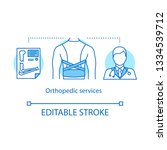 orthopedic services concept... | Shutterstock .eps vector #1334539712
