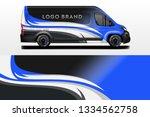 van decal cargo company and car ... | Shutterstock .eps vector #1334562758