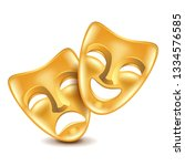 Theatre Masks Isolated On White ...