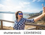 travel  vacation and holiday... | Shutterstock . vector #1334585432
