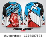 long sleeve t shirt design... | Shutterstock .eps vector #1334607575