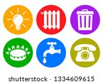 utilities icons in flat style ...   Shutterstock .eps vector #1334609615