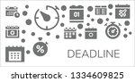 deadline icon set. 11 filled... | Shutterstock .eps vector #1334609825