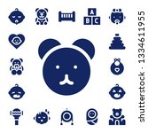 teddy icon set. 17 filled teddy ... | Shutterstock .eps vector #1334611955