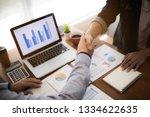business people negotiating... | Shutterstock . vector #1334622635