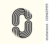 letter o logo.typographic icon... | Shutterstock .eps vector #1334629595