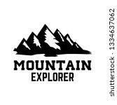 mountain tourism emblem. design ... | Shutterstock .eps vector #1334637062
