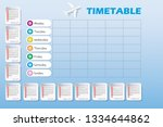 vector calendar for year 2019... | Shutterstock .eps vector #1334644862